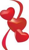 3 hearts Royalty Free Stock Photo