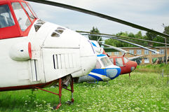 3 helicopters Stock Photography