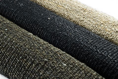 3 hemp rug rolls Royalty Free Stock Images