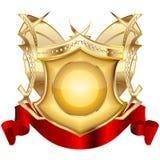 3 heraldisk sköld v Royaltyfria Bilder