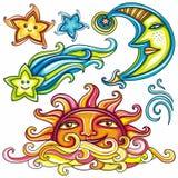 3 himmelska symboler Arkivbild