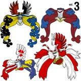 3 hjälmar heraldisk vol Fotografering för Bildbyråer