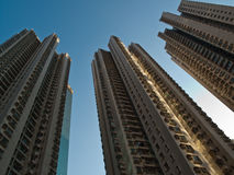3 hoge stijgingsflats in Hongkong Stock Afbeelding
