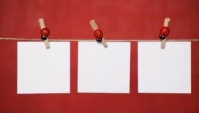 3 hojas de nota en blanco fotos de archivo libres de regalías