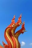 3 hoofden van het serpent Stock Afbeelding