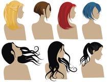 3 hårstilar Arkivfoton