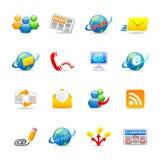 3 ikon cechy ogólnej sieć ilustracji