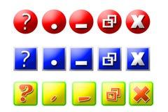 3 ikon go ustalone przez okno fotografia royalty free