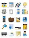 3 ikony biurowy ustalony narzędzi wektor Fotografia Stock