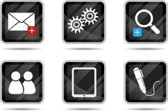 3 ikony internetów pastylka Zdjęcia Stock