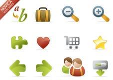 3 ikony novica serii sieci ilustracja wektor