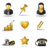 3 ikony ustawiają sieć Obrazy Stock