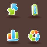 3 ikony ustawiająca wektorowa sieć Zdjęcia Stock