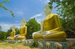 3 immagini di Buddha Fotografie Stock