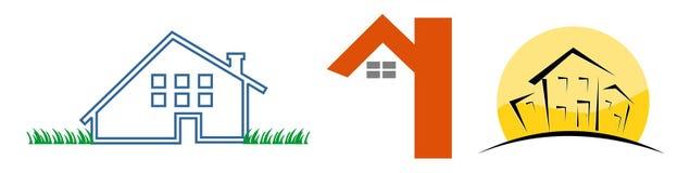 3 insignias de la casa ilustración del vector