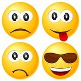 3 inställda emoticons Arkivfoto
