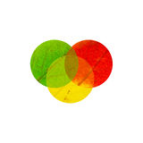 3 intercrossed cirklar Fotografering för Bildbyråer