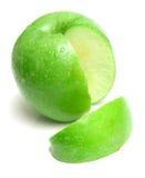 3 jabłko - zielony soczysty dojrzałe Obraz Royalty Free
