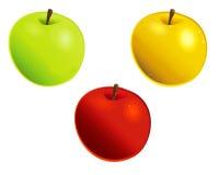 3 jabłka ilustracja wektor