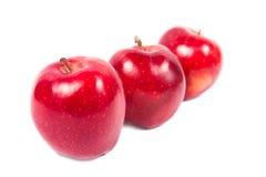3 jabłka Zdjęcia Royalty Free