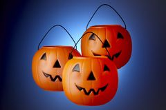 3 Jack-O-Lanterns Royalty Free Stock Photography