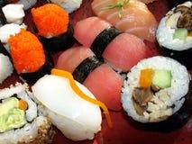 3 japanska sushi Arkivbild