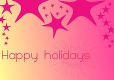 3 jaskrawy colours szczęśliwych wakacje Zdjęcia Stock