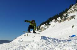 3 jazda na snowboardzie Fotografia Royalty Free