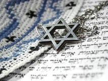 3 judiska religiösa symboler för closeup Royaltyfri Foto