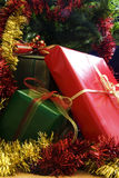 3 julgåvor Royaltyfria Foton