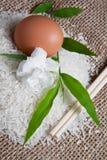 3 jutowy ryż worek Obraz Royalty Free