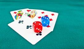 3 kart bawić się Fotografia Royalty Free