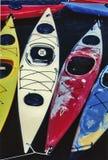 3 kayaks Стоковая Фотография