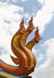 3 King of nagas on sky Stock Image