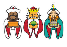 3 kings bearing gifts Royalty Free Stock Photos