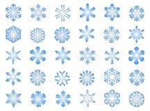 3 klasycznego płatka śniegu Fotografia Royalty Free