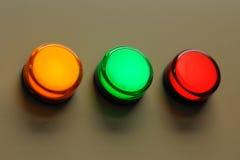 3 kleurenlichten Stock Foto's