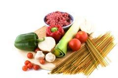 3 kleurenspaghetti Stock Foto's