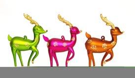 3 kleurrijke Rendieers Royalty-vrije Stock Foto