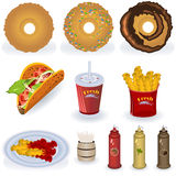 3 kolekcj fast food Fotografia Royalty Free
