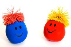 3 kolorowe uśmiechnięta twarz Zdjęcia Stock
