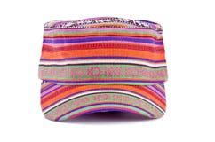3 kolorowego kapeluszu odosobniony biel Obrazy Stock