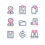 3 koloru konturowa ikon sieć Obrazy Stock