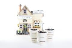 3 koppen van koffie Royalty-vrije Stock Afbeeldingen