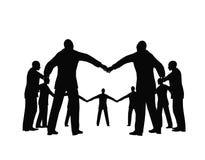 3 kręgu biznesu ludzi Zdjęcie Stock