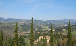 3 krajobrazu Tuscan Obrazy Royalty Free
