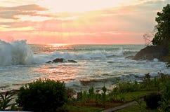 3 krascha waves Royaltyfri Foto