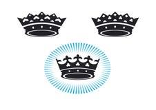3 kronen Stock Afbeeldingen