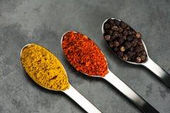 3 kryddor Arkivbild