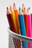 3 kulöra blyertspennor Royaltyfri Bild